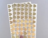 108 Mini Heart Stickers - Gold