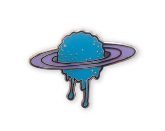 Melting Saturn Enamel Pin