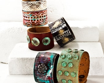 SALE LOT CLEARANCE Jewelry Bracelets Wristbands Accessories Discount Leather Cuffs Christmas Holiday Gifts