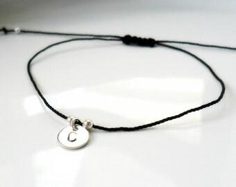 Personalized Bracelet Friendship Bracelet Anklet / Bridesmaid gift  Bracelet / Classmate, Crew gift / trinket favors bachelorette goodies
