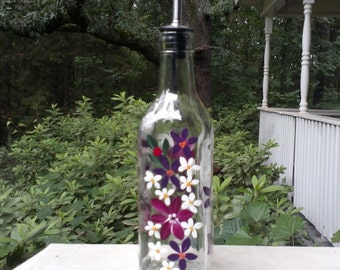Oil and Vinegar Dish Liquid bottle berry wine and red violet