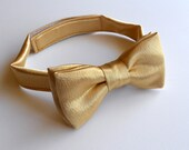 Gold Satin Bowtie - Infant, Toddler, Boy-  2 weeks before shipment
