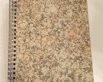 blank marbled paper spiral  notebook