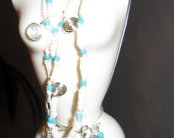 Barbie Silkstone Beaded Necklace and Earrings for 11.5 inch dolls