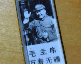 Reduced Price Vintage Mao Pin.......Mao Saying Hi     Free Shipping Anywhere