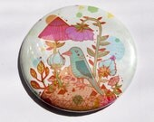 Blue Bird Pocket Mirror