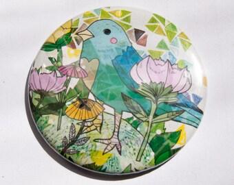 Little Blue Bird Pocket Mirror