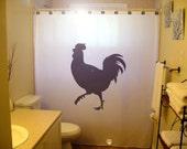 Chicken Rooster Shower Curtain Bathroom Decor Kids Bath mother hen cockerel farm farming coop house