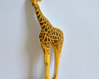 Silkscreen Giraffe Pillow