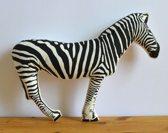Plush Zebra Pillow