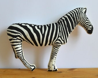 SALE - Silkscreen Zebra Pillow