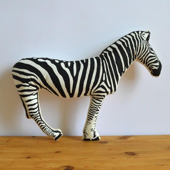 SALE - Silkscreen Zebra Pillow