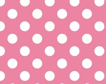 Hot Pink Medium Dots Fabric by Riley Blake Designs - by the Yard - 1 Yard