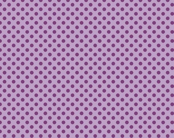 Lavender Tone on Tone Small Dots Fabric by Riley Blake Designs - 1/2 Yard - Half Yard - C420-120