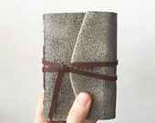 Scout, Leather Journal in Gray and Brown. Leatherbound Book Handbound Sketchbook Travel Notebook Gifts for Him or Her Under 50 Trail Diary