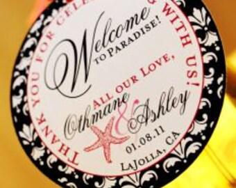 Wine Bottle Tags - Wedding Wine Bottle Tags - Custom Wine tags - 25 Tags