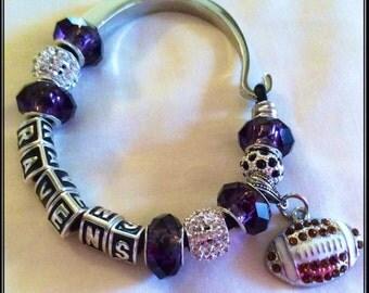 Baltimore Ravens Jewelry inspired Bracelet handmade