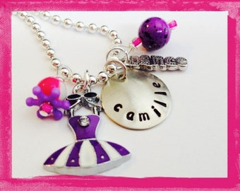 BALLET NECKLACE - Personalized Dance Necklace -  Personalized Jewelry - #D30