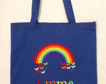 Personalized Tote Bag, Personalized Tote, Rainbow Tote Bag, Rainbow Tote, Rainbow Gift, Personalized Rainbow, Colorful Tote,