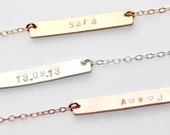Delicate Name plate necklace - personalised bar jewelry - customisable necklace