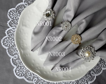 Lovely Wedding Napkin Ring Rhinestone Napkin Ring Crystal Napkin Ring Wedding  Napkin Holder Wedding Table Decor Diamante
