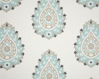 "Designer custom made Fabric shower curtain, Damask gunmetal canal 72""  , 84"" , 90"", 96, 108"""