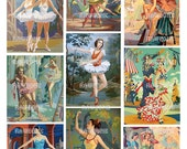 Digital Download Vintage Paint By Number Dancers - Paint By Number Ballerinas - pbn dancers - pbn ballerinas
