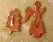 Cookie cutters Angel  and Holly leaf Christmas