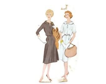 Vintage 1950s Vogue One piece Dress Pattern 9659 size 14