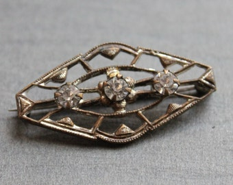 Antique Edwardian Paste Collar Pin