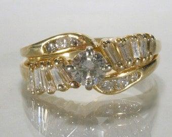 Diamond 18K Yellow Gold Wedding Set - Vintage Estate