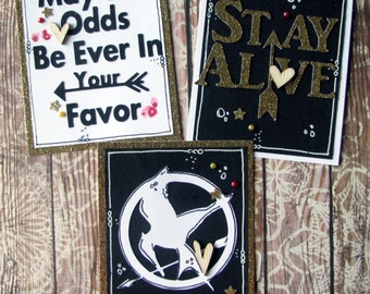 May the Odds Be Ever in Your Favor Project Life Cards - Set of Three