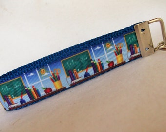 School Teacher Key Fob in Wristlet Style