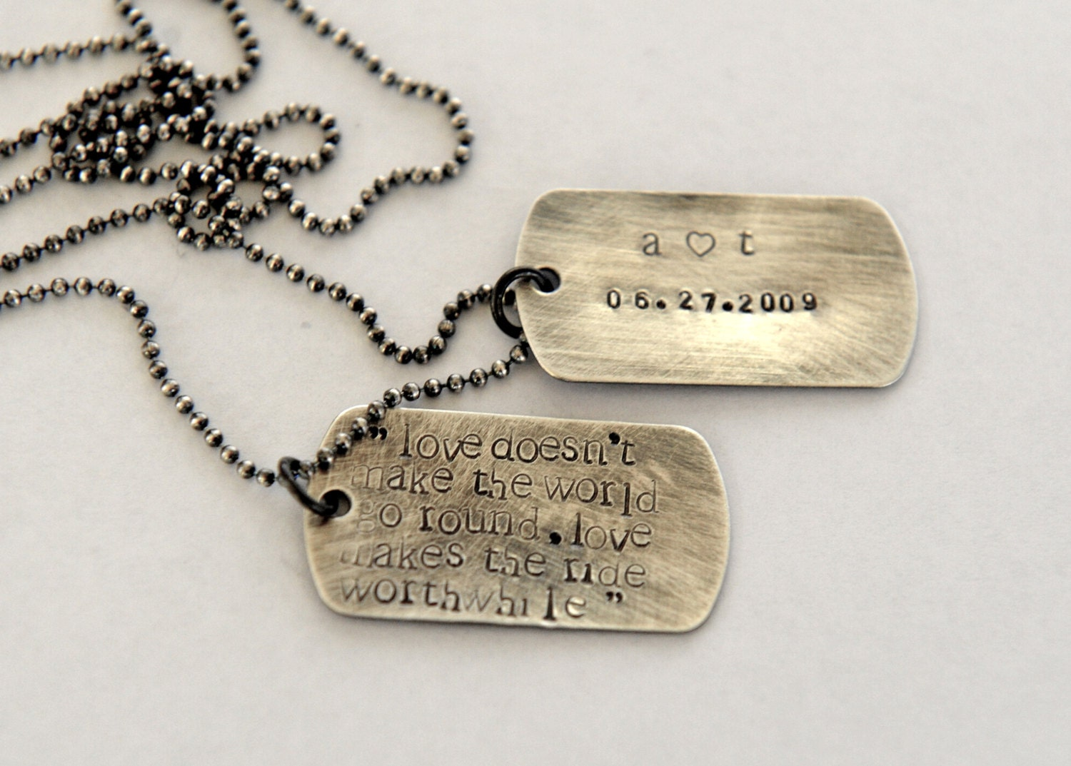 personalized groom gift mens dog tag necklace anniversary. Black Bedroom Furniture Sets. Home Design Ideas
