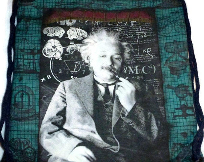 Einstein It's all Relative Backpack/tote Cotton-Linen Canvas Custom Print last one