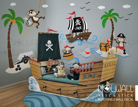 Pirate Wall Decals, Ship, Captain Jack by NouWall