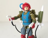 Vintage GI Joe Action Figure - Fast Draw - 1980s Toy - Complete with Missile Launchers and File Card - Hasbro Toy Line