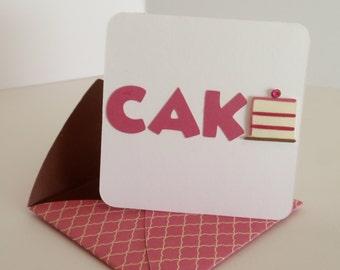 Birthday Enclosure Card, Mini Card, Happy Birthday