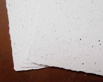 Handmade Recycled Paper - White Office Paper Set No 2