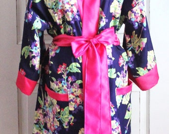 Maternity Hospital Nursing Robe- Coordinate as a Delivery Robe with your Hospital Gown - Great for Hospital and Recovery - Ready to Ship