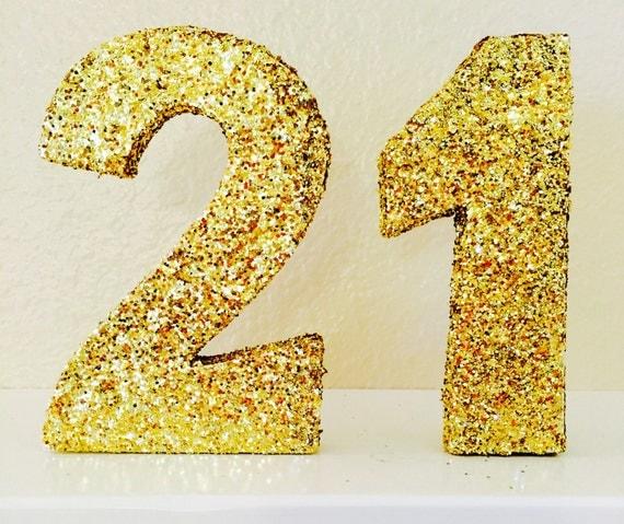 Numbers  Glittered Num...