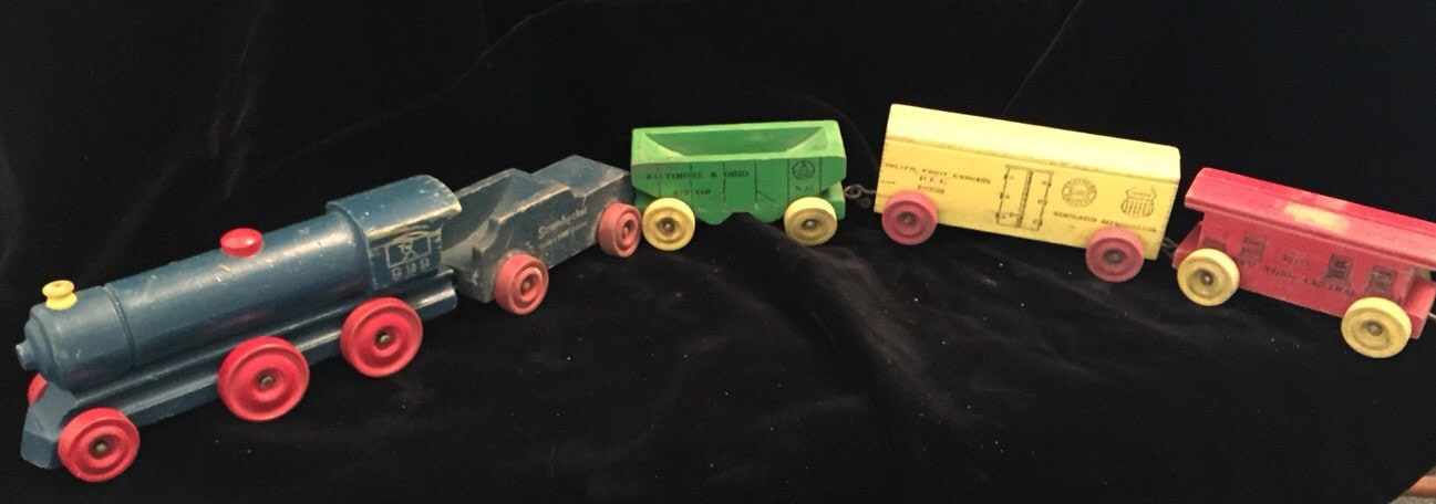 Vintage Strombecker Wooden Toy Train