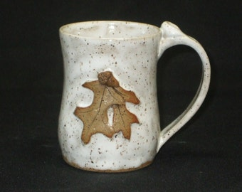 Small Oak Leaf Mug with Acorns