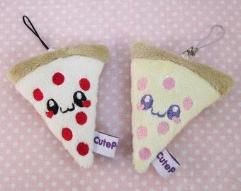Kawaii Pizza Plush Phone Charm DS Decoration Bag Charm Pastel (Pick One)