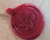 Wax rose seals set of 60