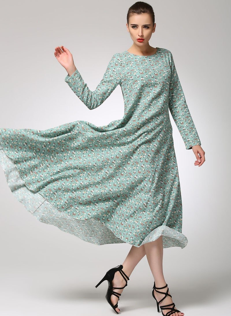 Loose linen dress - Etsy