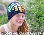 CROCHET GRAPH - Graphic Pineapple Color Grid