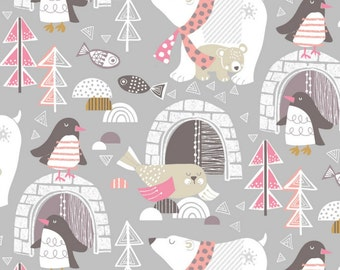 Blend Fabrics - Snow Day Collection - Winter Wonderland in Gray
