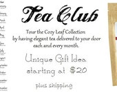 Dual 12 Month Cozy Leaf Tea Club Membership Caffeine AND Herbal