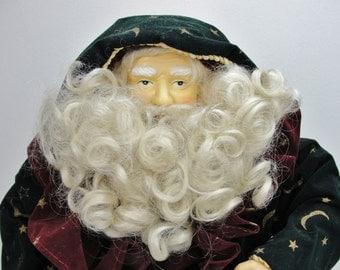 """Vintage Wizard Santa with stars and moons, 25"""" santa NOS"""